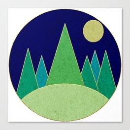 Dark Night Forest Canvas Print
