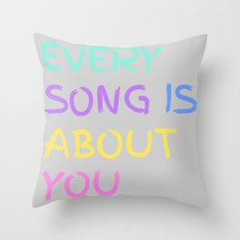 Every Song Throw Pillow