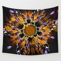 firefly Wall Tapestries featuring Reflecting firefly by thea walstra