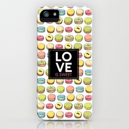 Love is sweet. iPhone Case