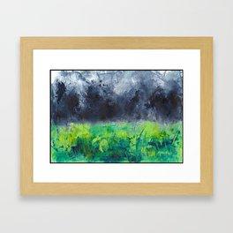 Grey Green abstract Framed Art Print