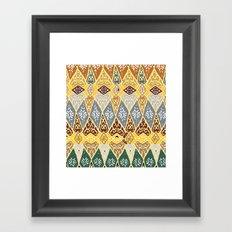 70's pattern  Framed Art Print