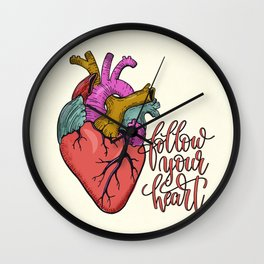 FOLLOW YOUR HEART Wall Clock