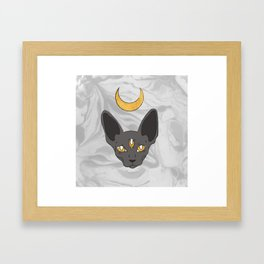 Three cat eyes grey skies Framed Art Print