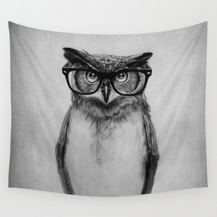 Mr. Owl Wall Tapestry