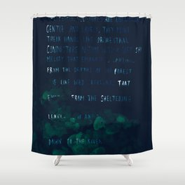 """""""Conquest of the Useless"""" by Werner Herzog Shower Curtain"""