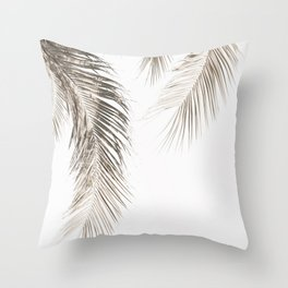 Dried Palm Leaves Throw Pillow