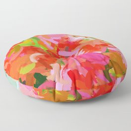 Preconceived Blossom #abstract #painting Floor Pillow