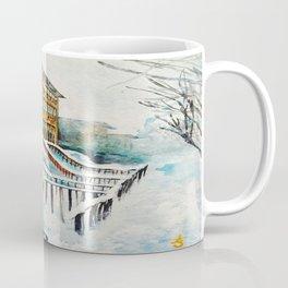 Brooklyn New York In Snow Storm Coffee Mug