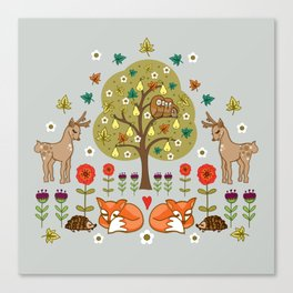 Woodland Wild Things Canvas Print
