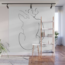 Nude Sketch inspired to Matisse Wall Mural
