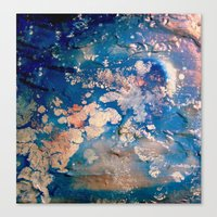 night sky Canvas Prints featuring Night Sky by Daphne Khoury