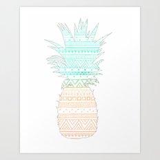 Tribal Pineapple  Art Print