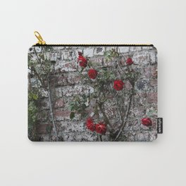 Roses and Brick Carry-All Pouch