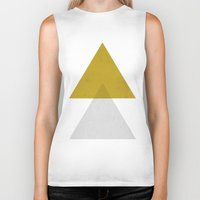 triangles Biker Tanks featuring Triangles by Nan Lawson