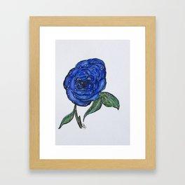 Blue And Wet, Rose Framed Art Print