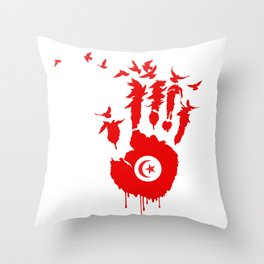 Tunisian Revolution Throw Pillow