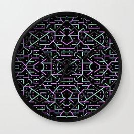 Futuristic Linear Geometric Pattern Wall Clock