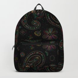 Colored paisley pattern Backpack