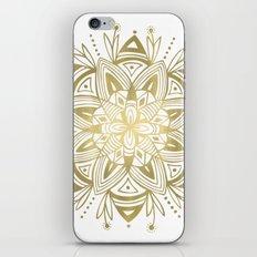 Mandala - Gold iPhone Skin