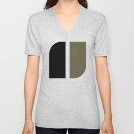 Geometric Pattern #41 (black gray) Unisex V-Neck