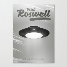 Roswell UFO (mono) Canvas Print