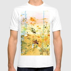 flowers at the beach White Mens Fitted Tee MEDIUM