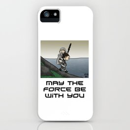 May the force (black) iPhone Case