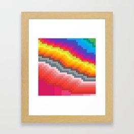 Pixel art rainbow Framed Art Print