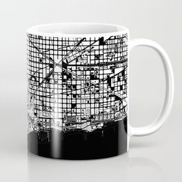 Barcelona city map black and white Coffee Mug