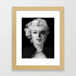 Dead Celebrities Series Half Skull Framed Art Print