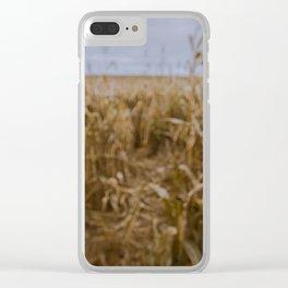 Blur Corn field Clear iPhone Case