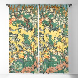 Fashionable Battle Of Frogs By Kawanabe Kyosai 1864 Blackout Curtain
