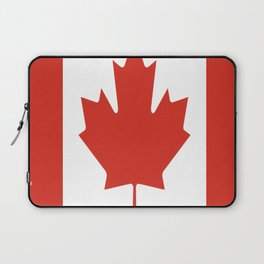 red maple leaf flag of Canada Laptop Sleeve