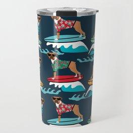 Boxer surfing pattern cute pet gifts dog lovers boxer dog Travel Mug