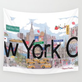 New York City - CityScapes by Stephanie Hessler Wall Tapestry