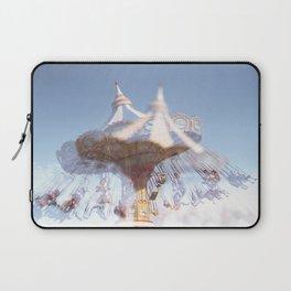 Sea Swings in Santa Cruz - 35mm Double Exposure on the Santa Cruz Boardwalk Laptop Sleeve