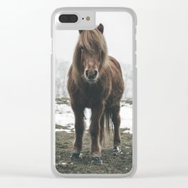Highland Horse Clear iPhone Case