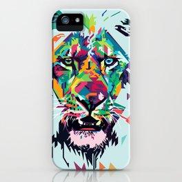Pop Lion Face iPhone Case