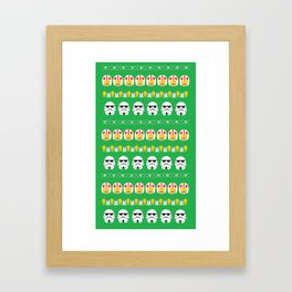 GALACTIC SWEATER [GREEN] Framed Art Print