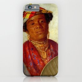 African American Masterpiece 'Woman with Gold Necklaces' by Helen Watson Phelps iPhone Case