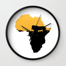 Africa Lion Wall Clock