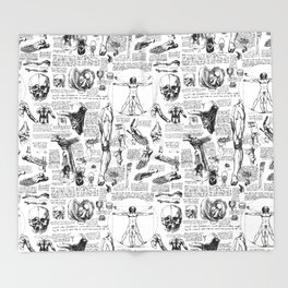 Da Vinci's Anatomy Sketchbook Throw Blanket