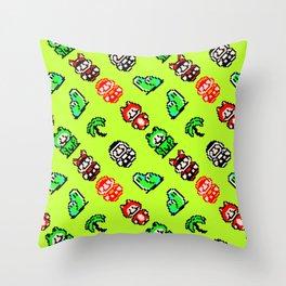 super Mar!o Bros | green || video game nostalgia Throw Pillow