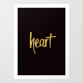 Heart Handwritten Type Art Print