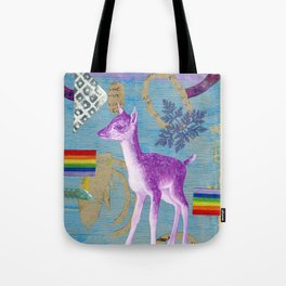 rainbow deer 2 Tote Bag