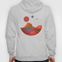 """""""Coral Sci-Fi Mountains"""" Hoody"""