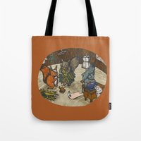sewing Tote Bags featuring Sewing Room by Kelsey Oseid