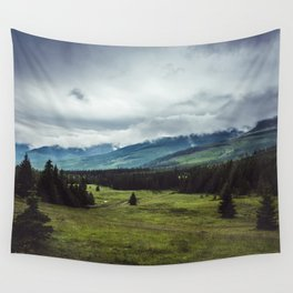 Mountain Trail - Landscape and Nature Photography Wall Tapestry