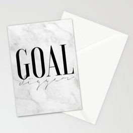 GOAL DIGGER SIGN, Success Quote,Marble Decor,Girls Room Decor,Fashion Print,Modern Art,Office Wall A Stationery Cards